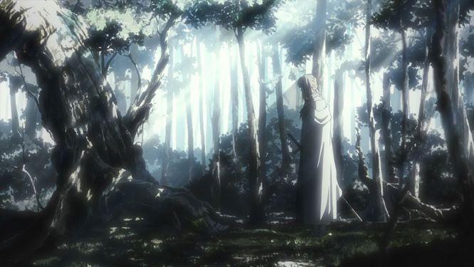 獅子王とベディビエールの過去のシーン_湖に剣を投げ入れる