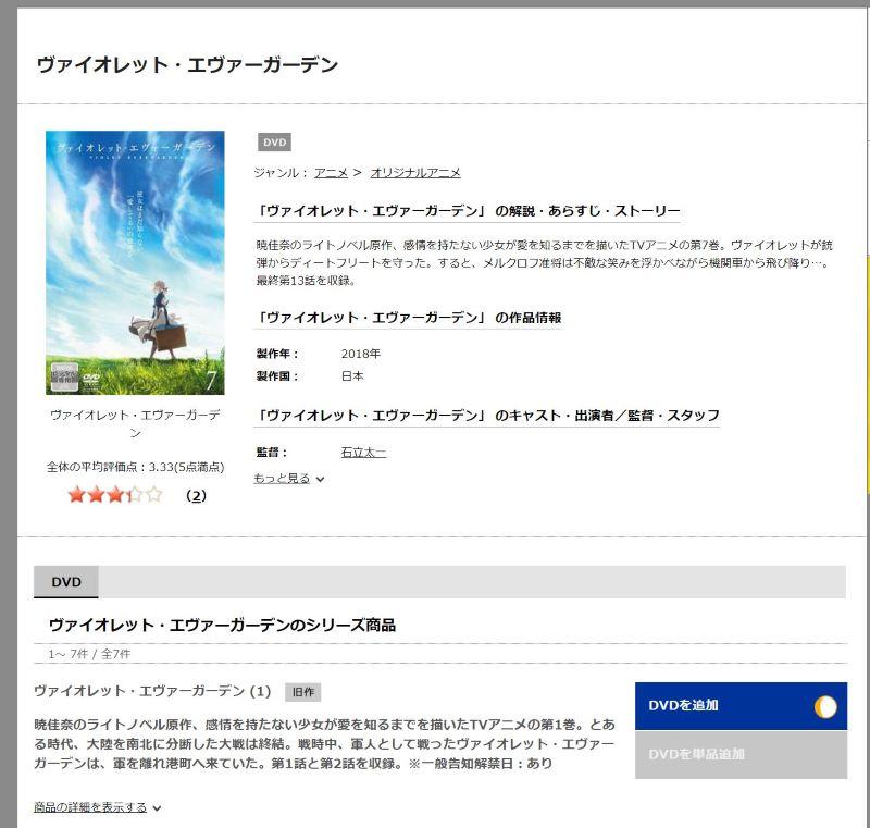 3.レンタルしたいDVD作品ページから「DVDを追加」でレンタル可能