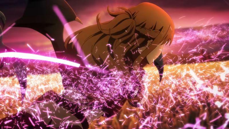 劇場版SAOプログレッシブ(SAOP)のワンシーン_アスナの戦闘シーンと圧倒的にかっこいいエフェクト